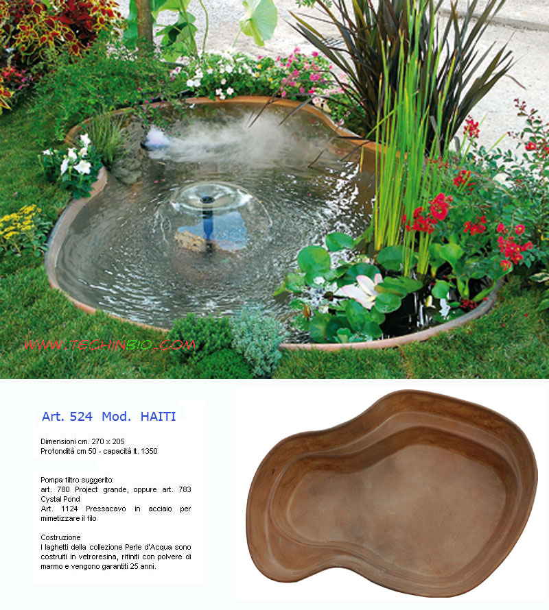 Laghetti giardino cascate artificiali prezzi vendita for Cascate laghetti da giardino