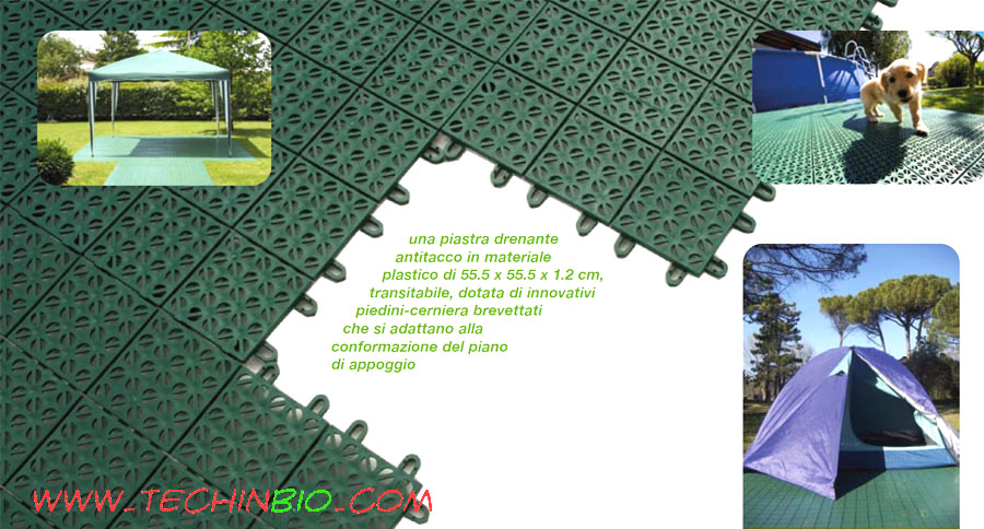 Pavimento plastica esterno drenante plastica giardini piscina antisdrucciolo - Piastrelle di plastica ...