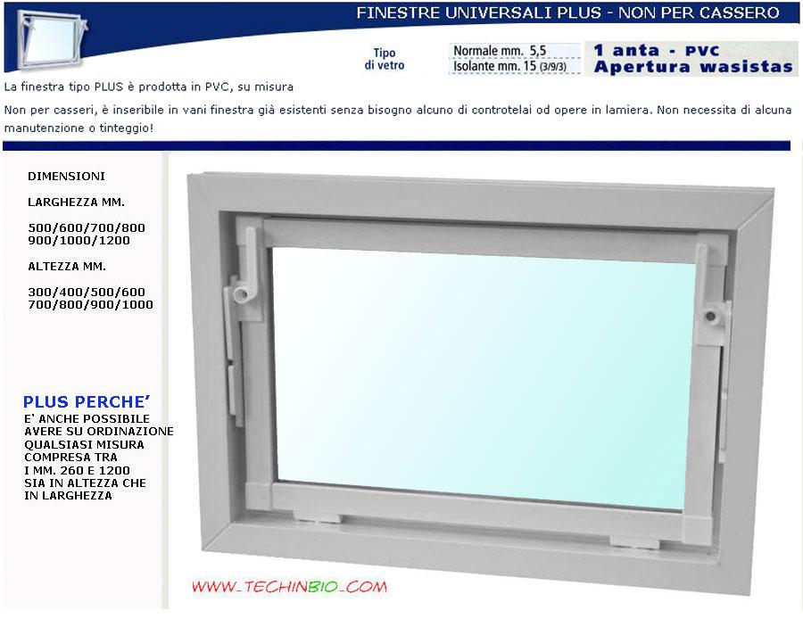 Finestra pvc su misura universale per cantina e garages - Montaggio finestre pvc senza controtelaio ...