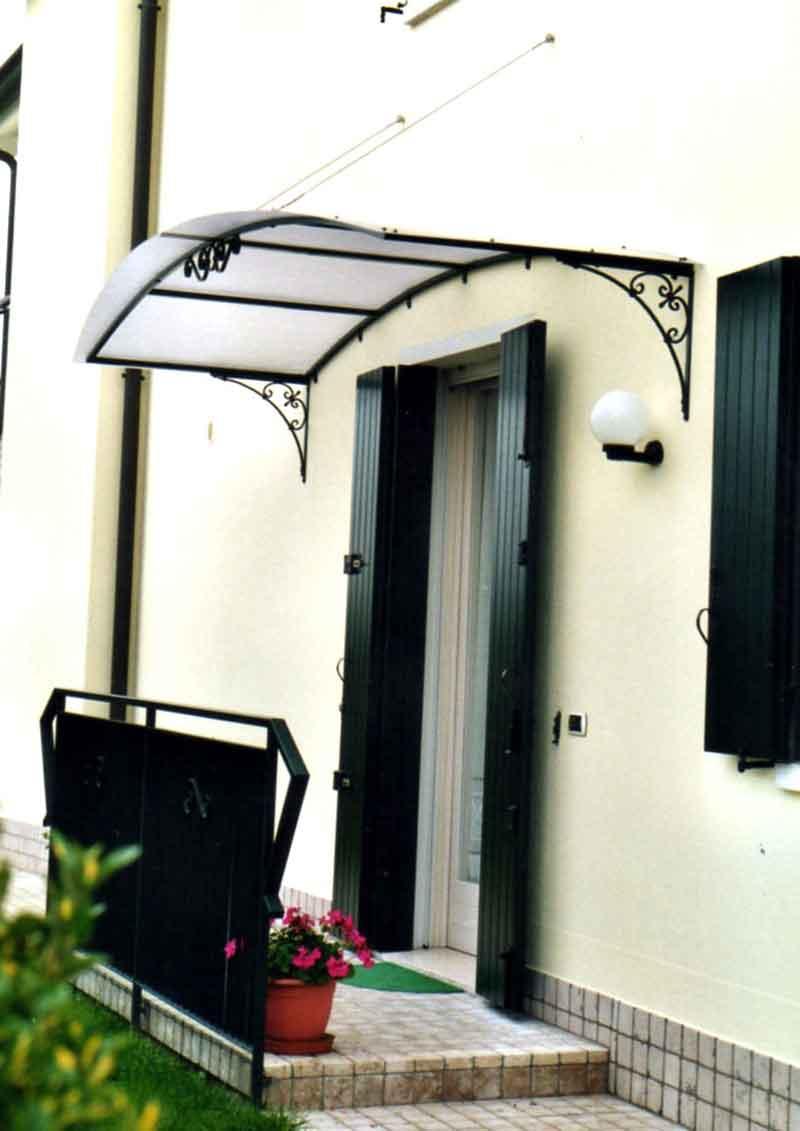 Tettoia ferro battuto pensilina ingresso forgiata tettoia classica - Struttura in ferro per casa ...