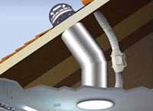 Tubi solari lucernari tubolari lightway vendita tunnel for Lucernario prezzo