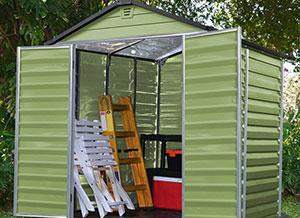Casette giardino box giardino casetta resina for Legnaia con ripostiglio