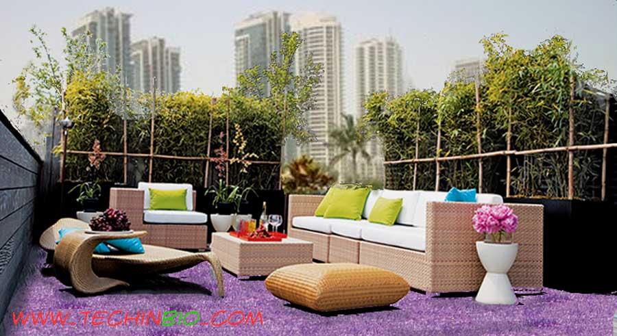 terrazzo con erba: erba sintetica e prato sintetico per giardini ... - Negozi Arredamento Erba