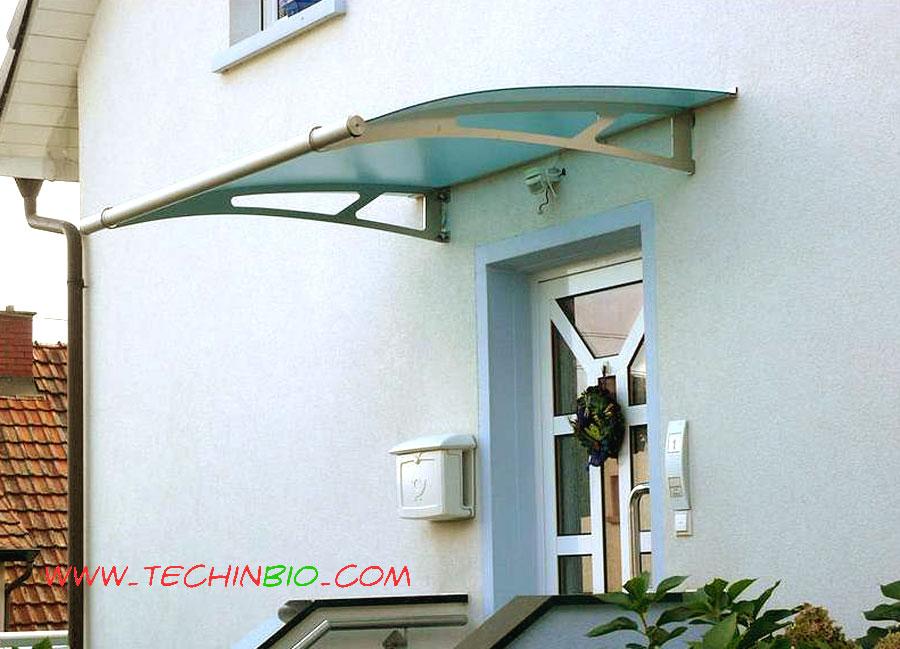 Tettoia inox pensilina plexiglass tettoia ingresso capottina porta - Tettoia per porta ingresso ...