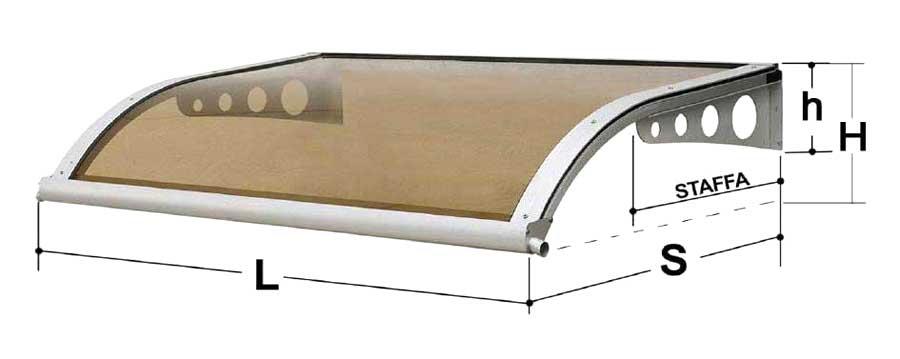Tettoie in plexiglass tutte le offerte cascare a fagiolo for Coperture leroy merlin