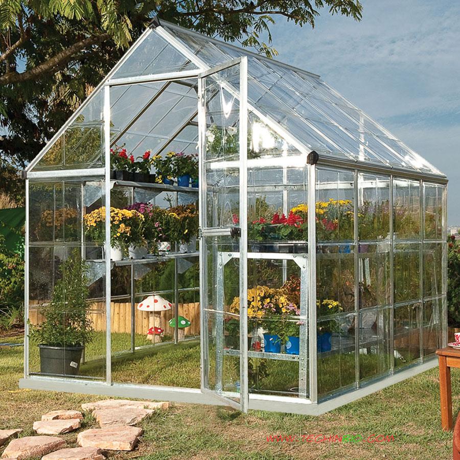 Serra per giardino serre da giardino serre in alluminio for Serre da giardino policarbonato